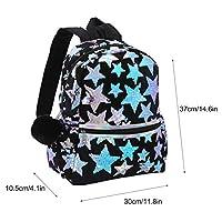 Sarplle Girls Backpack Glittery School Backpack Leisure Hairball School Bag for Ipad, Books, Pocket Umbrellas, Items - 30 * 10.5 * 37cm