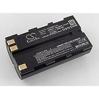 vhbw Batería Li-Ion 2800mAh (7.4V) para cámara láser Geomax Zenith 10, 20, 25 como 724117, 733269, GEB90.