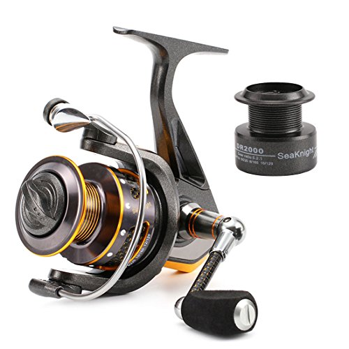 SeaKnight Dr Serie-Mulinello da Pesca Spinning kg potente sistema di frizione in fibra di carbonio-11BB Spinning Mulinello con bobina di ricambio, Reel-DR3000 - Daiwa Alluminio Bobine Di Pesca