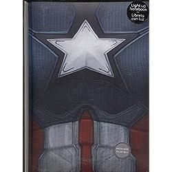Capitan America - Libreta con luz (SD Toys SDTMAR20412)
