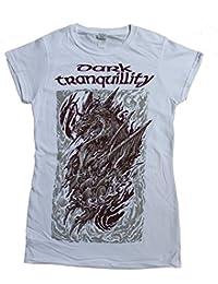 Dark Tranquillity, Girlie Frauen T-Shirt, Dragon