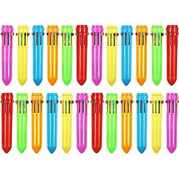 4-in-1 Retrattile Penne a Sfera Scrittura liscia 4 Colore Penna a Sfera per Ufficio Scuola Forniture Studenti Bambini Regalo 20 Pezzi Penne a Sfera Multicolore