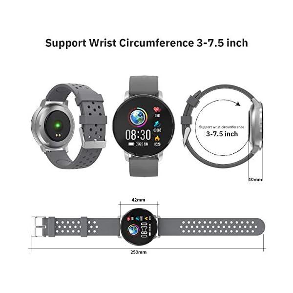 CatShin Smart Watch Activity Tracker con monitor de frecuencia cardíaca - CS06 IP68 Impermeable Multifunción Ronda Fitness Bluetooth Reloj deportivo para hombres y mujeres,compatible con iOS y Android 7