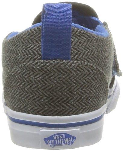 Vans T Slip-On V, Unisex - Kinder Sneaker Schwarz - Noir (Herringbone Bl)