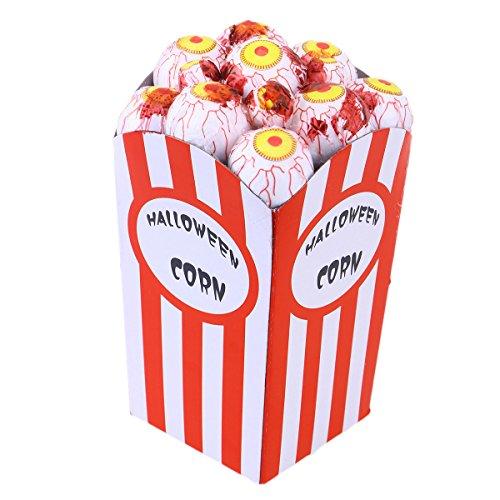 BESTOYARD Popcorn Dekorationen lustige Schaum Mais Dekoration Behandeln Oder Trick Spielzeug für Kinder Halloween Party (Rote Augen) (Halloween-party Behandeln Trick Oder)