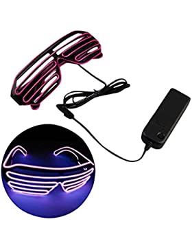 JYR Unisex LED Glasses Cool Slotted Shutter Flash Light Eyewear for Nightclub
