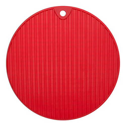 Anti Rutsch Unterlage | rot | rund ca. Ø 18cm | Anti Rutsch Matte | Pad