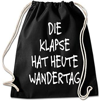 7dd12f1664176 Shirt   Stuff   Turnbeutel mit Spruch Bedruckte Sportbeutel - Sprüche  auswählbar Baumwolle schwarz Klapse hat Heute Wandertag