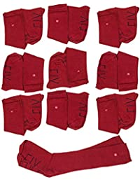 SOCKFIX Calcetines escolares largos con botón (pack 10 pares)