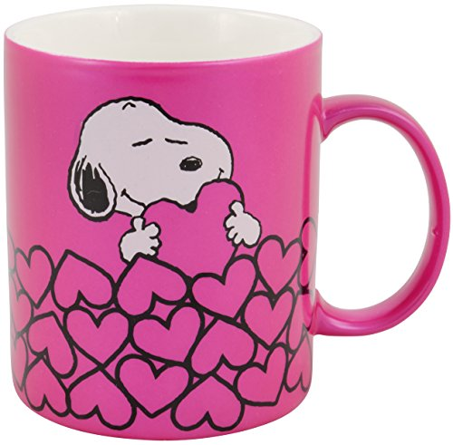 Peanuts - Tasse 'Snoopy' metallic, pink: ca. 300ml