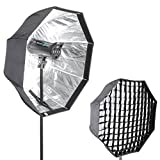 'Neewer® Foto Estudio 31/80cm Octagon Paraguas Tipo Speedlite Softbox con Cuadrícula para retratos, fotografía de producto y grabación de vídeo