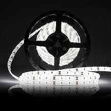 LEDMO Tiras LED, Tiras de LED 12V, Blanco Luz 300pcs SMD5630 25Lm/led 5 metros de largo, el doble de brillo, Tiras LED de interior,IP65 Impermeable, de alto rendimiento de color, CRI80, proteger los ojos, hogar iluminación ambiental.