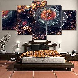 Lienzo Fractal Artístico de Flor Pintura de la ona Arte fractal para tu dormitorio.