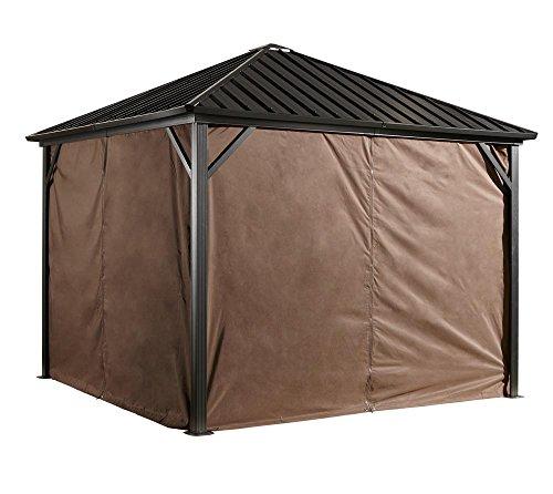 Sojag Aluminium Pavillon Dakota Vorhänge Seitenteile / passend für Gartenlaube Dakota 8x8 (Aluminium-vorhang)