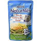 Nestlé Bébé Naturnes Duo Haricots/Riz/Poulet Plat Complet dès 12 Mois Sachet de 190 g