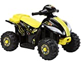 Brunte Battery operated Rideon Small ATV Hauler Yellow
