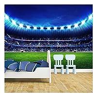 Football Stadium Pitch Sports Wallpaper Mural Photo Kids Bedroom Kitchen Poster Decoration 390x260cm