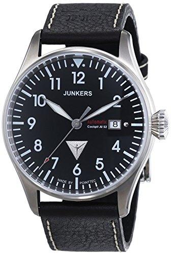 Junkers Herren-Armbanduhr XL Cockpit JU52 Analog Automatik Leder 61562