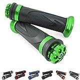 Universal Motorrad/Roller Lenkergriffe Griffgummis 22/24-25mm (RS1) (Grün)