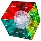 F Fityle 3x3 Unregelmäßige Zauberwürfel magischer Würfel Twist Puzzle Spielzeug für Anfänger und Profi - # 1
