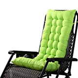 Chlove Stuhlauflage Hochlehner Auflage Sitzauflage Polsterkissen Rückenkissen mit Bänder (125 x 48 cm, Grün)