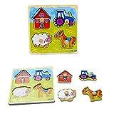 Kinder Holzpuzzle Tier Typ Didaktisches Steckpuzzle Holzpuzzle für Kinder Holzpuzzle Ente Tetris Tangram Lernspielzeug Intelligenz Pädagigisches Spielzeug für Kinder ab 3 Jahre
