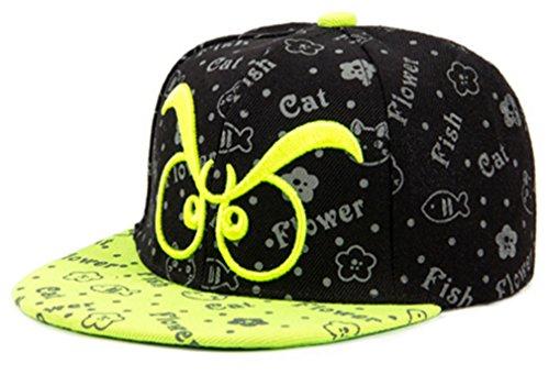 Belsen Kind Hip-Hop Brille Stickerei Cap Baseball Kappe Hut (grün)