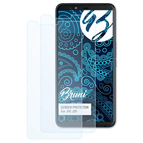 Bruni Schutzfolie kompatibel mit JVC J20 Folie, glasklare Bildschirmschutzfolie (2X)