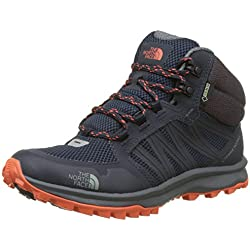 The North Face Litewave Fastpack Mid Gore-Tex, Botas de Senderismo Para Mujer, Varios Colores (Urban Navy/Nastrtium Orange), 42 EU