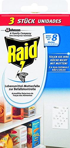 Raid Lebensmittel-Mottenfalle 2+1, 2er Pack (2 x 3 Stück) -
