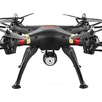6-eje 4 canales 2.4 GHz Wifi FPV transmisión en tiempo Real 2.0MP cámara LED luz RC girocompás Quadcopter helicóptero Drone para iOS Android celulares Negro