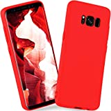 ONEFLOW Samsung Galaxy S8 | Hülle Rot SlimShield PRO Back-Cover TPU Handyhülle Silikon Schutzhülle für Samsung Galaxy S8 Case Ultra-Slim Handy Schutz Rückseite Thin Skin