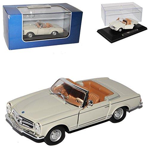 mercedes-benz-280sl-pagode-roadster-beige-cream-w113-1963-1971-1-43-atlas-modell-auto-mit-individiue