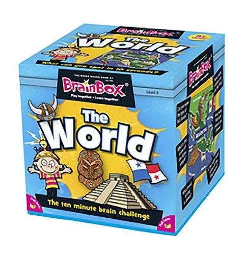 Imagen 1 de Green Board Games BrainBox The World - Juego de preguntas sobre el mundo (en inglés)