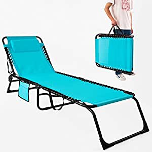 Sobuy ogs10 tl chaise longue bain de soleil transat de for Chaise longue pliante decathlon
