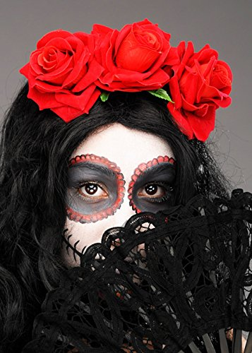 Tag der Toten rote Rose Blume-Stirnband