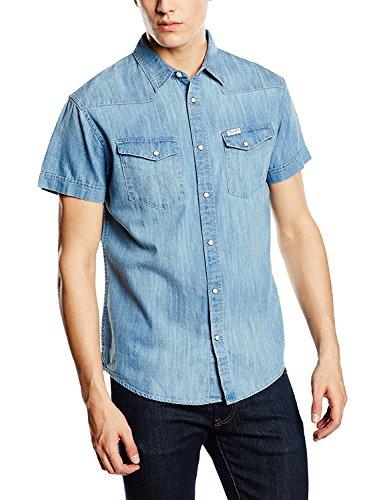 Preisvergleich Produktbild Wrangler S/S Heritage Western Shirt - Light Indigo Large