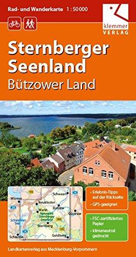 Rad- und Wanderkarte Sternberger Seenland: Bützower Land, Maßstab 1:50000, GPS geeignet, Erlebnis-Tipps auf der Rückseite