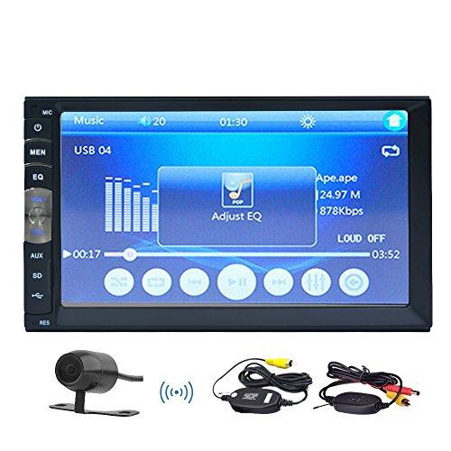 ouble 2 DIN Auto In-Dash kapazitive Multi-Touch Screen Bluetooth Auto-Stereo-FM MP3 MP5 Radio Player mit drahtloser Fernbedienung No-DVD-Player + Free HD-Wireless-Kamera (Auto-dvd-pioniere)
