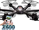 MJX X600 Headless 2.4G RC Quadcopter Drone Hexacopter 6 Axis Gyro 3D Roll UFO Without Camera Black-- But can be mounted C4002 or C4005 camera components for upgrade.