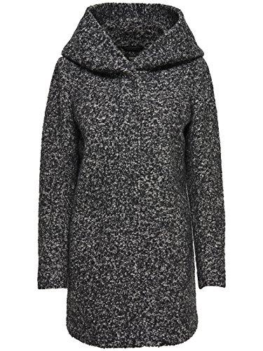 ONLY Damen Mantel Onlindie Noma Wool Coat CC Otw, Grau (Dark Grey Melange), 36 (Herstellergröße: S)