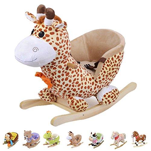 Style home Schaukelpferd Schaukeltier Plüschschaukel Kinderspielzeug Schaukel (Giraffe)