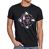 CottonCloud Piedra Papel Tijera Lagarto Spock Camiseta para hombre T-Shirt sheldon, Talla:M;Color:Nero