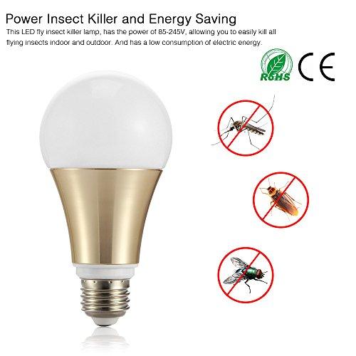 Moskito-Abwehrmittel-Glühlampe, Lemonbest Wanzen-Zapper beleuchtet 9W LED Insekt fliegt Falle-Nachtlampe E26/E27 Basis für Innengarten-Patio-Hinterhof im Freien (1P)