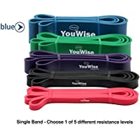 Pull Up Assist Band-YouWise Heave Duty Stretch Resistance Band, Mobility,Powerlifting Band Bonus eBook -Multi Choice: Single Band or one Set