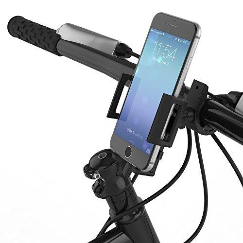 qubbi Handyhalterung Fahrrad Smartphone Halter Lenker universal in schwarz