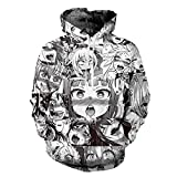 Unisex Anime Ahegao Red Face 3D Druck T-Shirt/Hoodie/Sweatpants/Pullover
