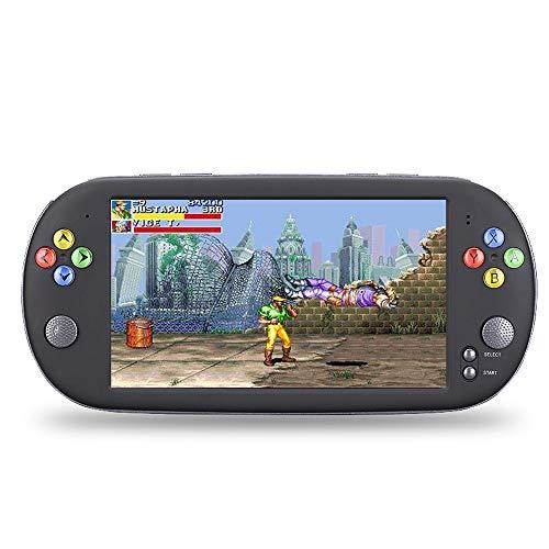 Pinjeer Mode 7 Zoll HD Bildschirm Arcade Retro Spielkonsole Thounds Spiele Eingebaute Tragbare TV-Ausgang FC Game Player Lade Spielzeug Spielkonsole Geschenke für Kinder (Größe : 48gb)