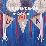 UxradG USA Bundfaltenhose Fan Flagge, Unabhängigkeitstag Banner Flagge, American Uns Wimpelkette Flaggen Patriotische Sterne und Streifen, für Festival Events Celebration, C