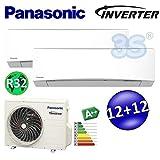 CLIMATISEUR PANASONIC TZ Inverter R32 MULTI Bi-split A++ 3,5+3,5 kw 30+30m²